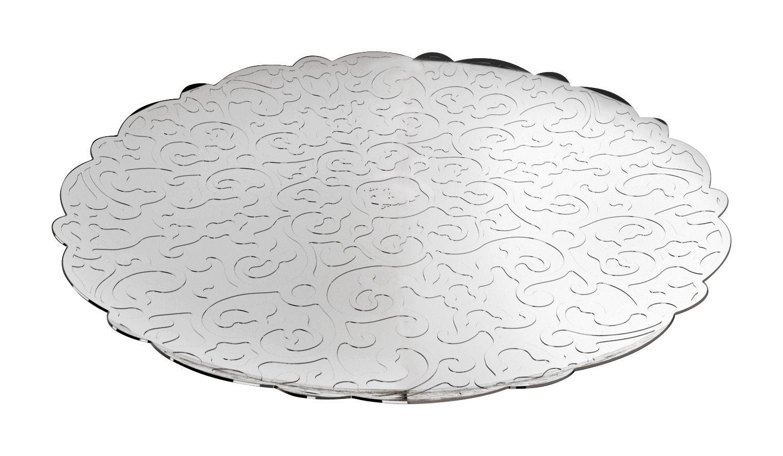 Arts de la table - Plateaux - Plateau Dressed / Ø 35 cm - Alessi - Acier brillant - Acier inoxydable