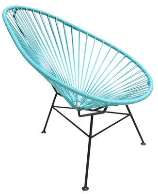 Arredamento - Poltrone design  - Poltrona bassa Acapulco di OK Design pour Sentou Edition - Turchese - Acciaio laccato, Materiale plastico