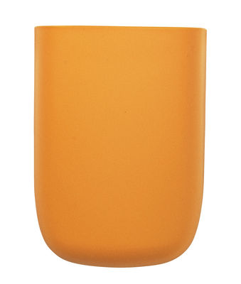 Interni - Per bambini - Portaoggetti da parete Pocket 3 - / L 10 x H 14 cm di Normann Copenhagen - Giallo arancio - Polipropilene
