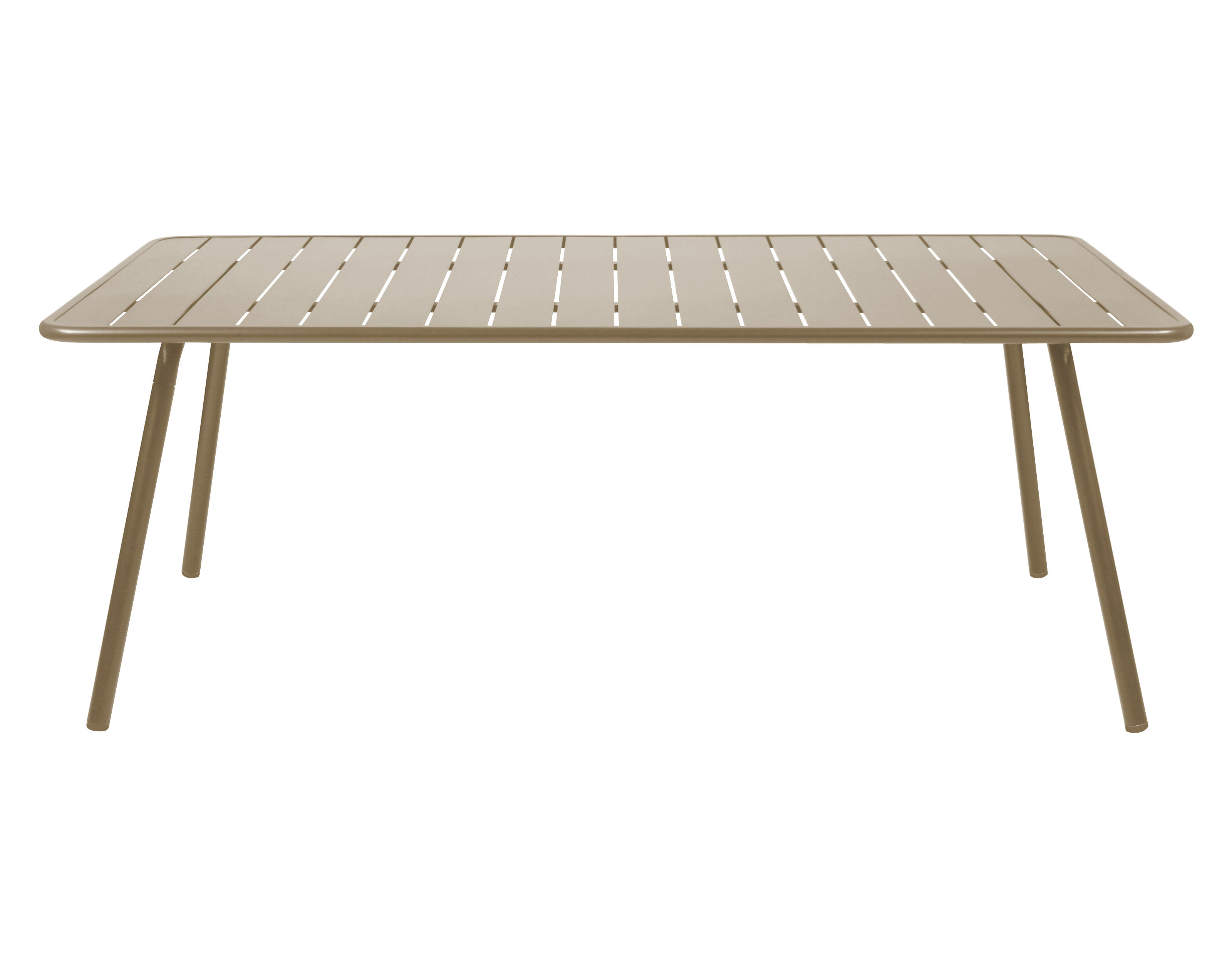 Outdoor - Garden Tables - Luxembourg Rectangular table - rectangular - 8 persons - L 207 cm by Fermob - Nutmeg - Lacquered aluminium