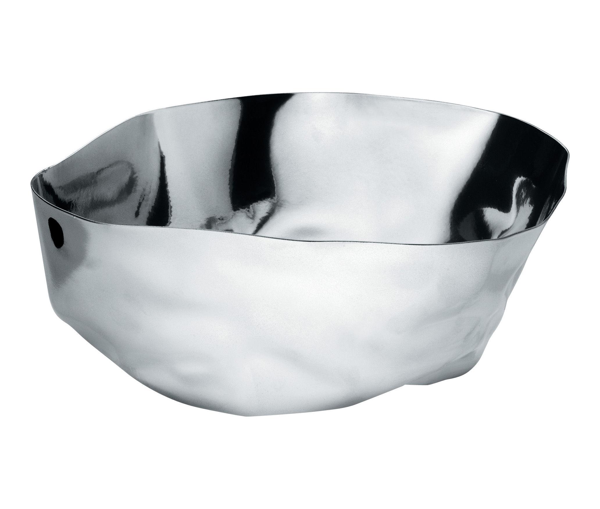 Arts de la table - Saladiers, coupes et bols - Saladier Enriqueta / 28 x 25 cm - Alessi - Acier brillant - Acier