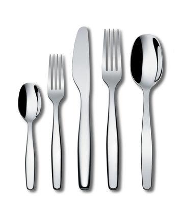 Set de couverts Itsumo / 5 pièces - 1 personne - A di Alessi gris/argent/métal en métal