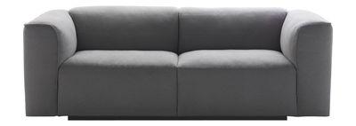 Möbel - Sofas - Mate Sofa 2,5-Sitzer - L 198 cm - MDF Italia - Grau - 2,5-Sitzer / L 198 cm - Gewebe, Massivholz