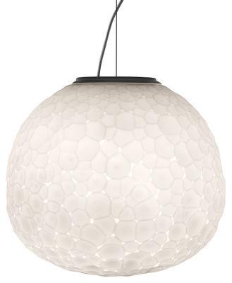 Illuminazione - Lampadari - Sospensione Meteorite / Ø 48 cm - Artemide - Ø 48 cm / Bianco - vetro soffiato