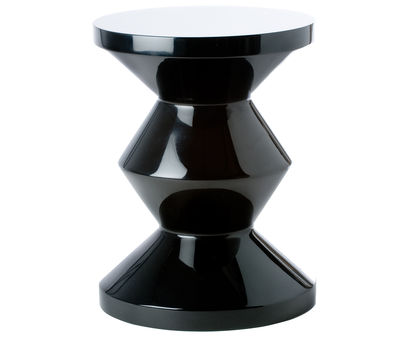 Furniture - Stools - Zig Zag Stool - Stool/Low table - Exclusivity by Pols Potten - Black - Lacquered polyester