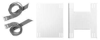 Arredamento - Mobili da ufficio - Supporto String Works - per unità centrale di String Furniture - Bianco - Acciaio laccato