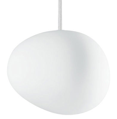 Suspension Gregg Piccola / Verre - Foscarini blanc en verre
