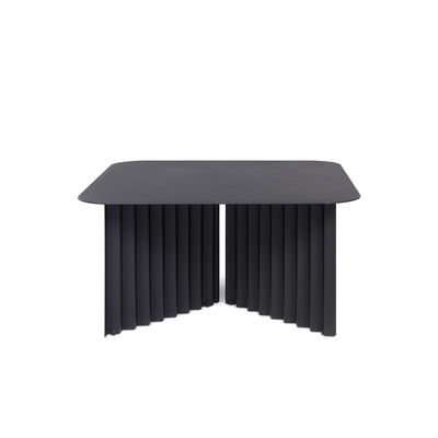 Table basse Plec Medium / Acier - 70 x 70 x H 35 cm - RS BARCELONA noir en métal