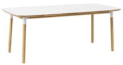 Table Form / 95 x 200 cm - Normann Copenhagen blanc,chêne en matière plastique