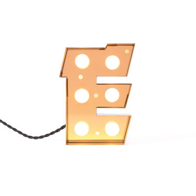 Decoration - Children's Home Accessories - Caractère Table lamp - / Wall light - Letter E - H 20 cm by Seletti - E - Lacquered metal