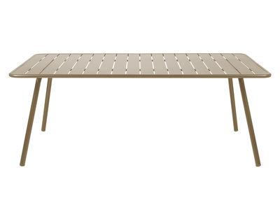 Table rectangulaire Luxembourg / 8 personnes - 207 x 100 cm - Aluminium - Fermob muscade en métal