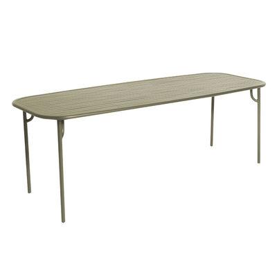 Jardin - Tables de jardin - Table rectangulaire Week-End / 220 x 85 cm - Aluminium - Petite Friture - Vert Jade - Aluminium thermolaqué époxy