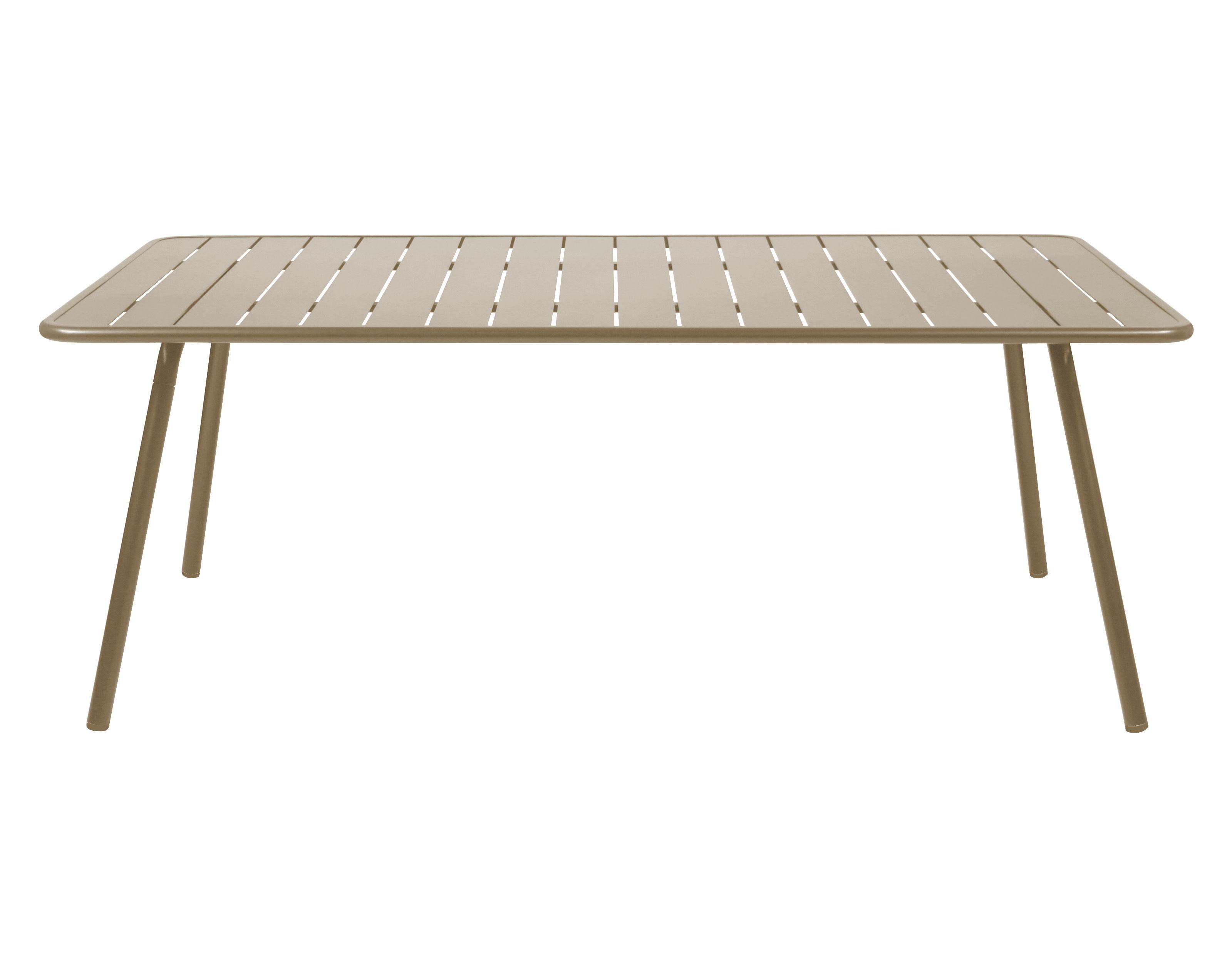 Outdoor - Tavoli  - Tavolo rettangolare Luxembourg - rettangolare - 8 persone - L 207 cm di Fermob - Noce moscata - Alluminio laccato