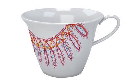 Image of Tazzina da caffé The White Snow Luminarie / Porcellana - Driade - Rosso - Ceramica