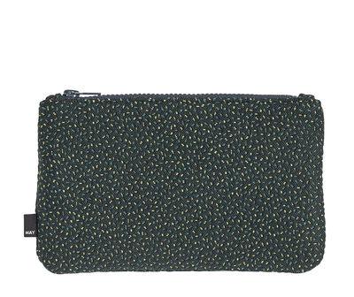 Accessoires - Sacs, trousses, porte-monnaie... - Trousse Zip Medium / L 22,5 x H 14 cm - Hay - Vert / Motifs Sprinkles - Tissu Kvadrat