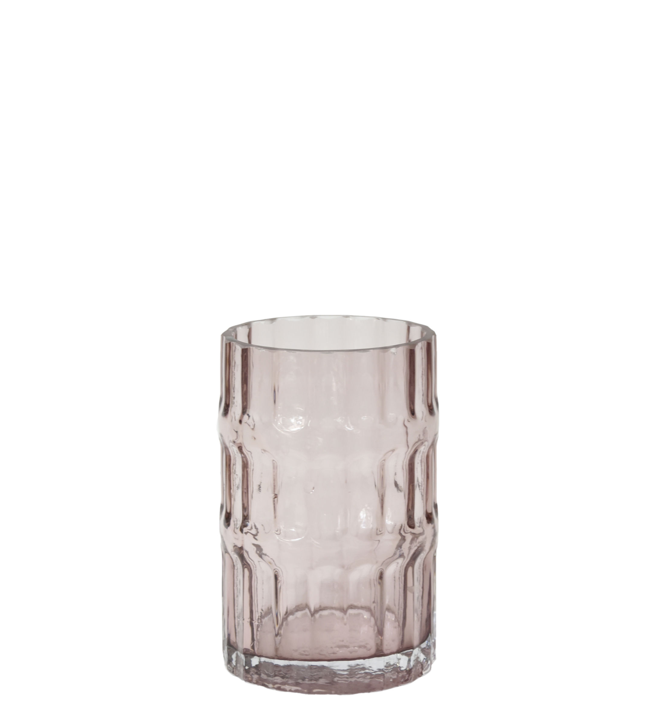 Decoration - Vases - Ondin Small Vase - / Ø 11 x H 18 by ENOstudio - Small / Pink - Coloured glass
