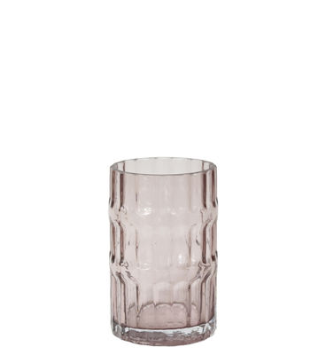 Vase Ondin Small / Ø 11 x H 18 - ENOstudio rose en verre