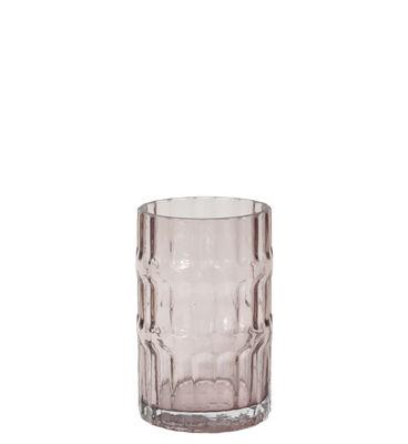 Interni - Vasi - Vaso Ondin Small - / Ø 11 x H 18 di ENOstudio - Small / Rosa - Verre coloré