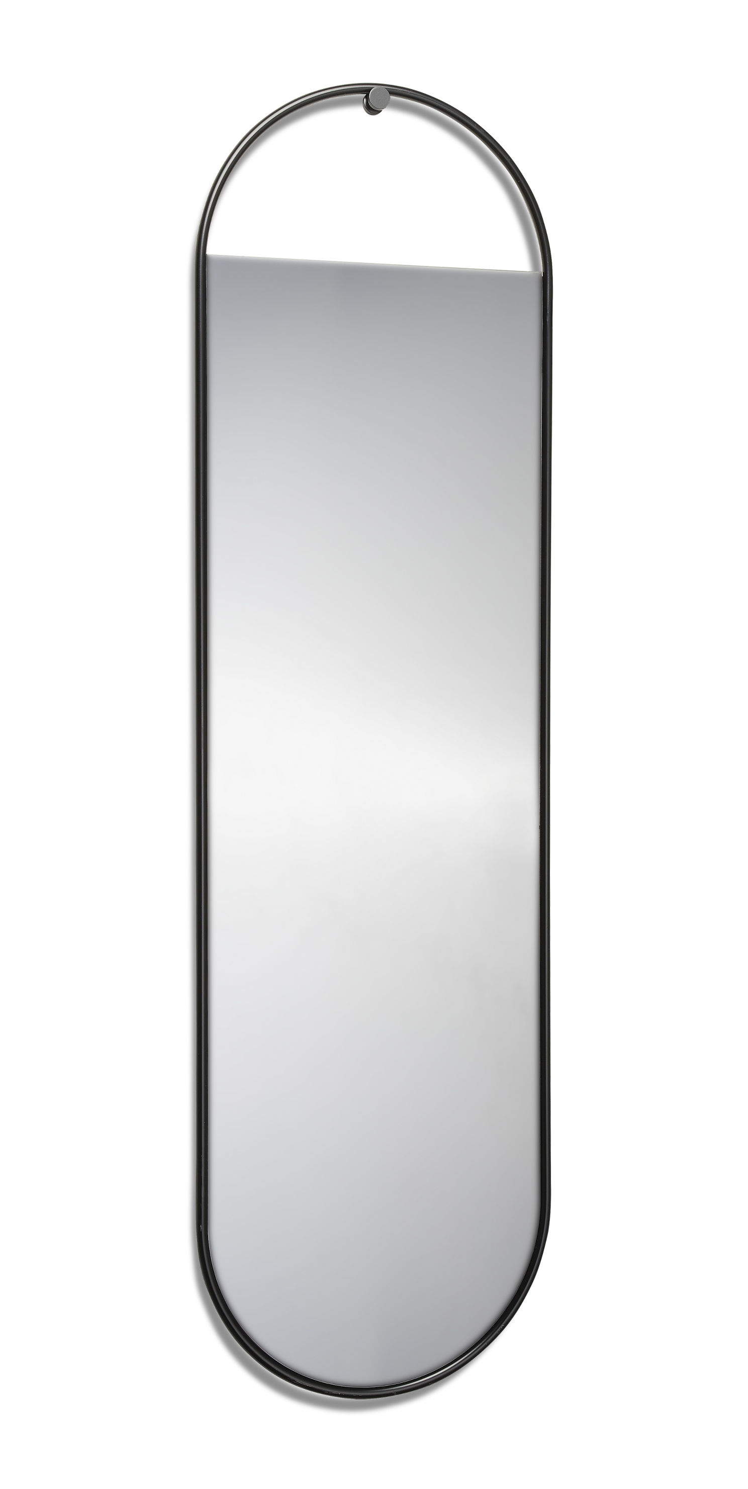 Decoration - Mirrors - Peek Large Wall mirror - / Oval - 40 x 140 cm by Northern  - H 140 cm / Black - Lacquered steel, Tinted glass