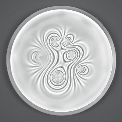Leuchten - Wandleuchten - Nebula Wandleuchte LED / Deckenleuchte - Ø 80 cm - Artemide - Weiß - Aluminium, Méthacrylate opalin