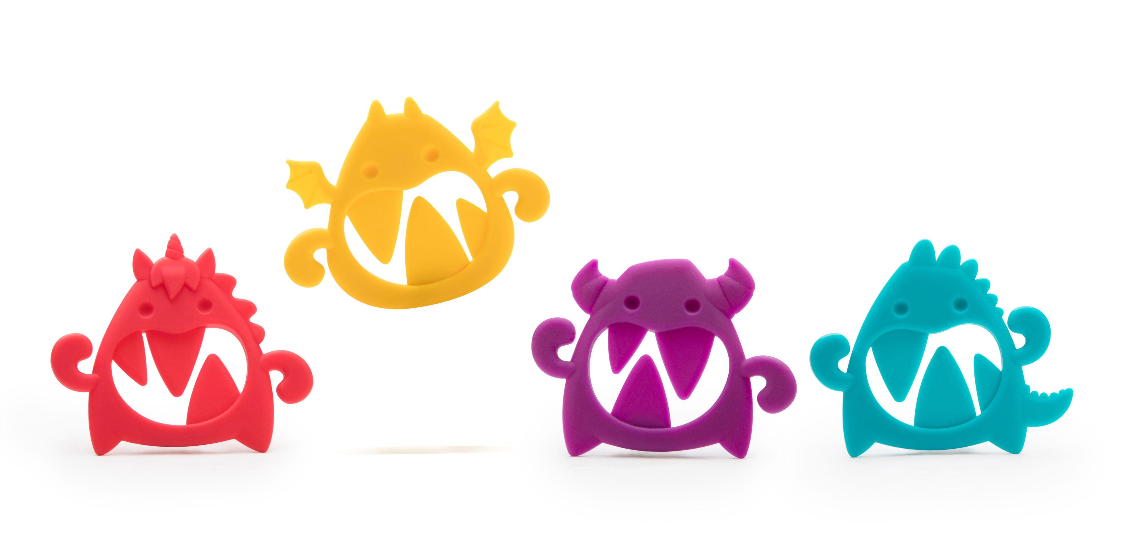 Déco - Pour les enfants - Accroche chaussettes Sock Monsters / Lot de 8 - Pa Design - Multicolore - Silicone
