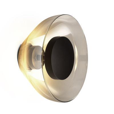 Image of Applique Aura LED / Vetro - Ø 18 cm - Marset - Grigio/Trasparente - Vetro