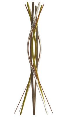 Image of Attaccapanni in piedi Twist di Horm - Multicolore - Legno