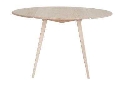 Möbel - Tische - Drop Leaf Ausziehtisch L 120 cm / Holz - Neuauflage des Originals aus den 1950er Jahren - Ercol - Holzfarben - massive Buche, Orme massif