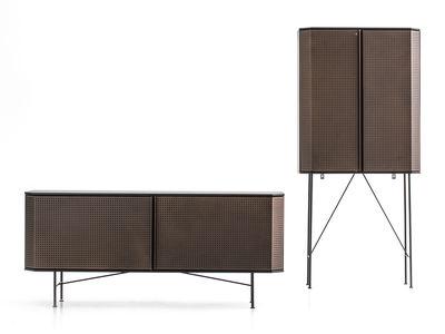 buffet perf l 150 cm cuivre plateau noir diesel with moroso made in design. Black Bedroom Furniture Sets. Home Design Ideas