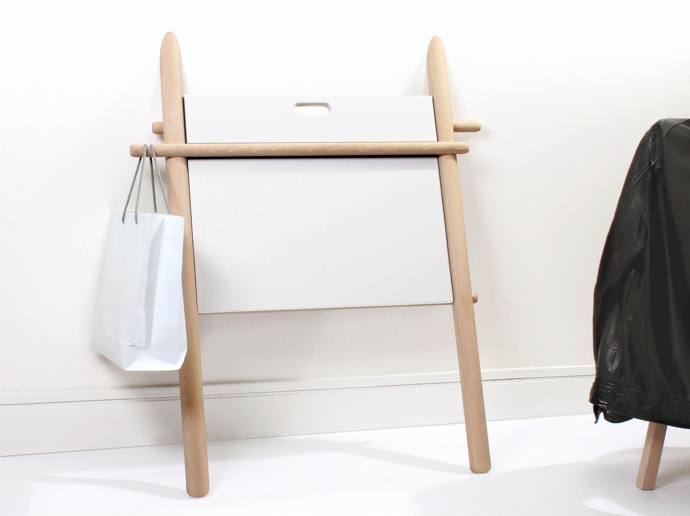 Bureau appunto pliable table d appoint hêtre plateau blanc