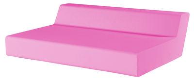 Canapé droit Matrass Seat 150 2 places L 150 x H 20 cm Quinze Milan rose en matière plastique