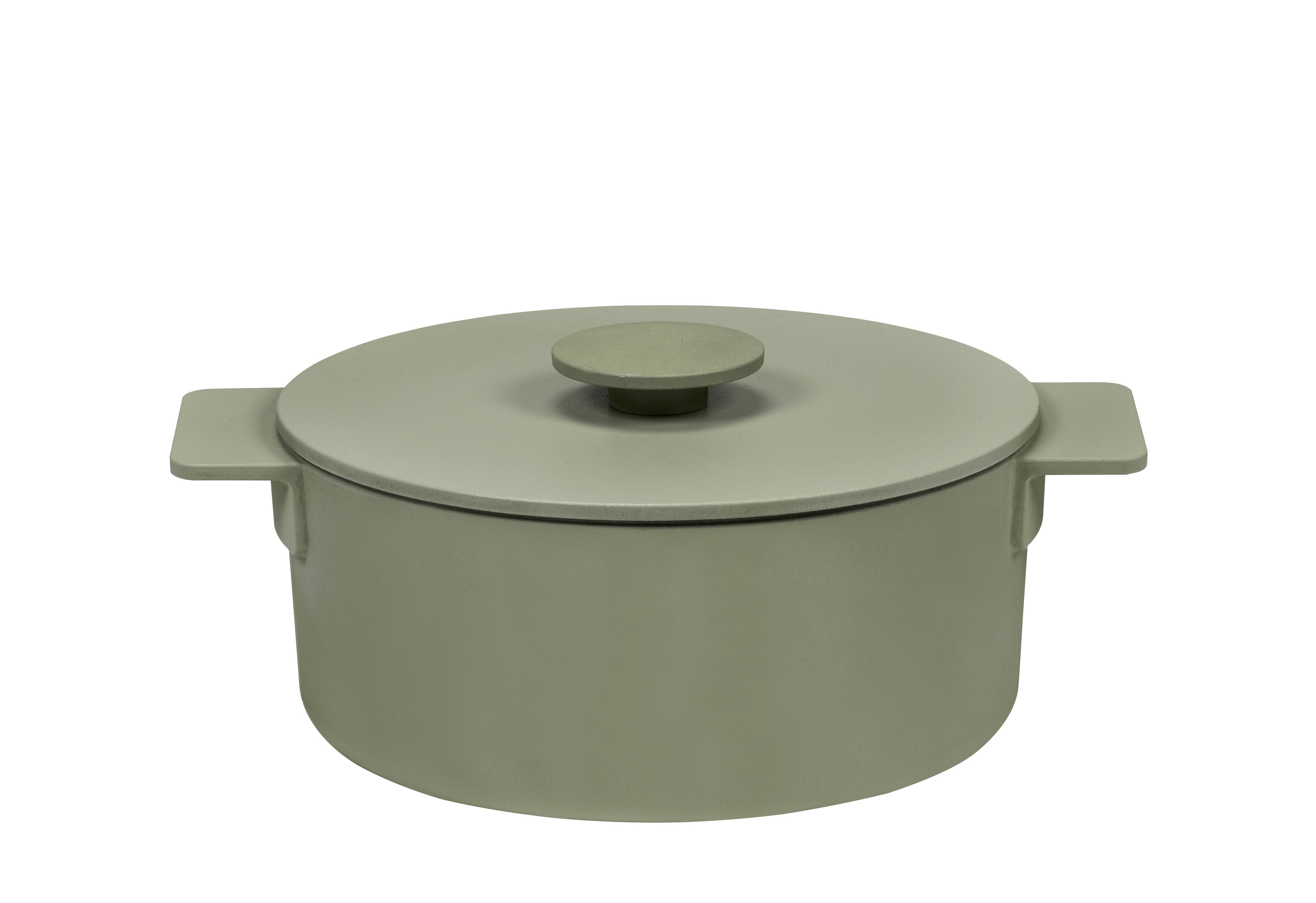 Kitchenware - Pots & Pans - Surface Casserole dish - / Ø 23 cm - All heat sources including induction by Serax - Camogreen - Cast iron