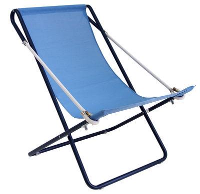 Chaise longue Vetta / Pliable - 2 positions - Emu bleu,bleu foncé en tissu