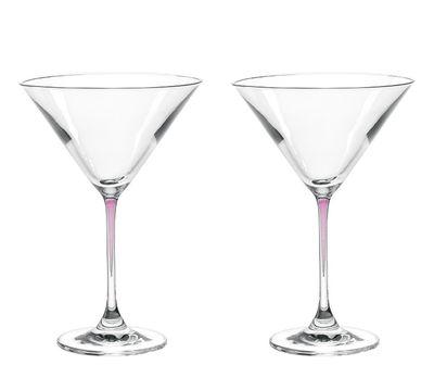 Tableware - Wine Glasses & Glassware - La Perla Cocktail glass - Set of 2 by Leonardo - Purple - Teqton® glass