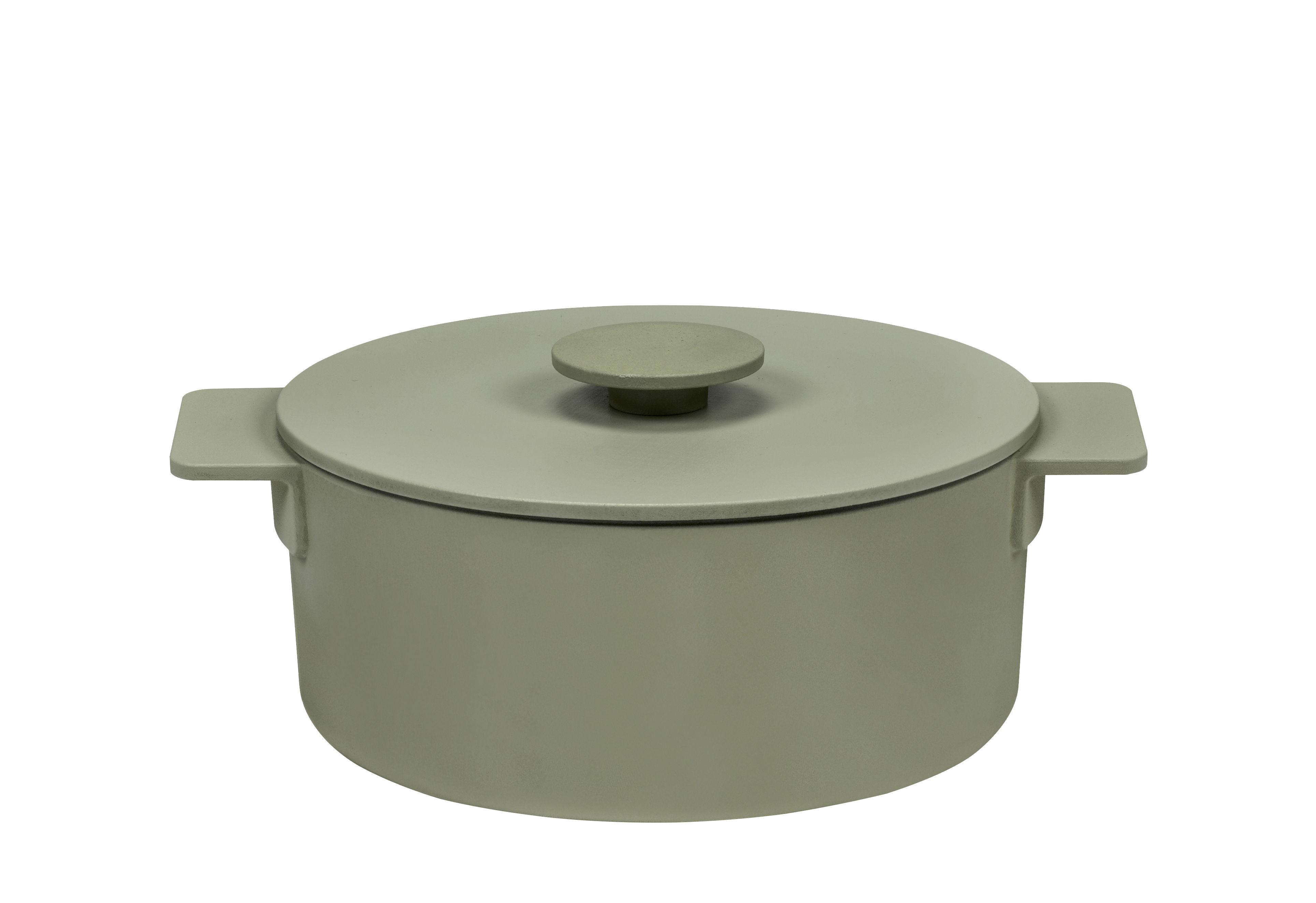 Cucina - Pentole, Padelle e Casseruole - Cocotte Surface - / Ø 23 cm - Qualsiasi tipo di piano di cottura, inclusa l'induzione di Serax - Camogreen - Ghisa