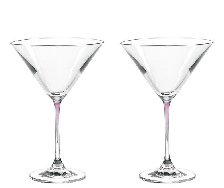Arts de la table - Verres  - Coupe à cocktail La Perla / Set de 2 - Leonardo - Violet - Verre Teqton®