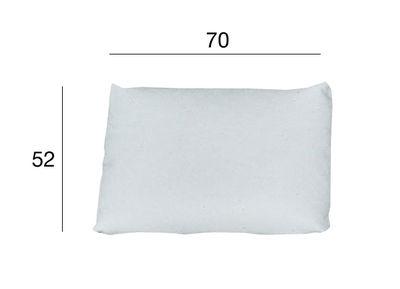 Mobilier - Poufs - Coussin Kilt / Cuir - Zanotta - Blanc - 70 x 52 cm - Cuir, Polyuréthane