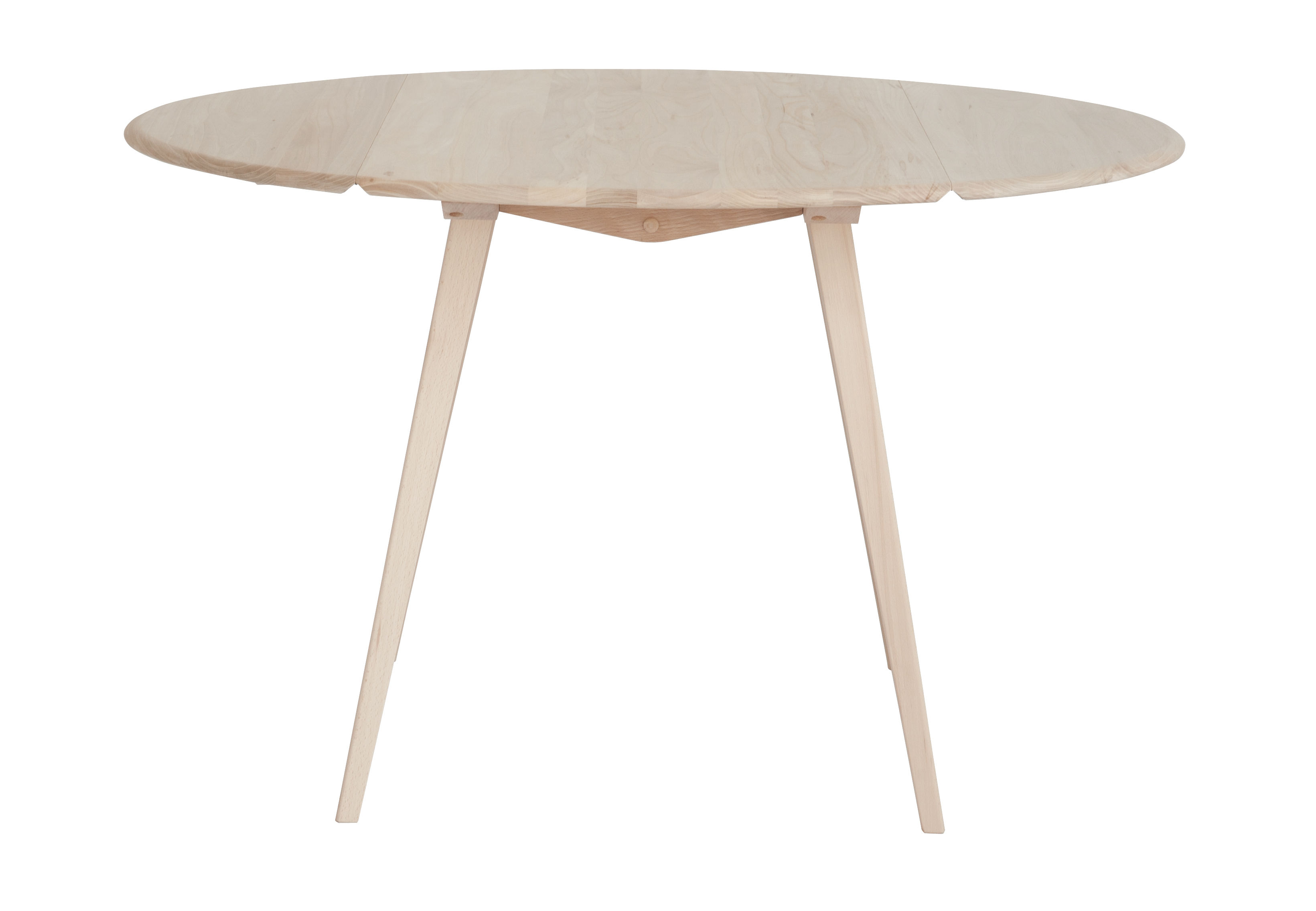 Furniture - Dining Tables - Drop Leaf Extending table - Ø 110 cm / Oak by Ercol - Natural wood - Natural beechwood, Solid elm