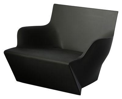 Chaise lumineux Kami San - Slide noir en matière plastique