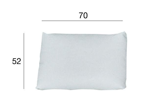 Möbel - Sitzkissen - Kilt Kissen / Leder - Zanotta - Weiß - 70 x 52 cm - Leder, Polyurhethan
