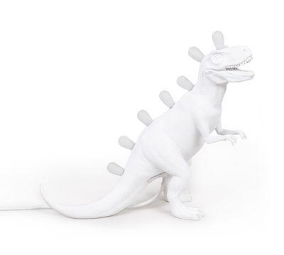 Interni - Per bambini - Lampada da tavolo Jurassic - / Tirannosauro di Seletti - Tirannosauro / Bianco - Resina