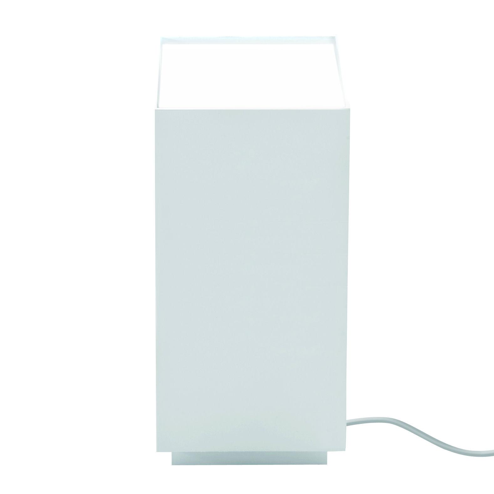 Luminaire - Lampes de table - Lampe de table Prisma / LED - Aluminium - Nemo - Blanc mat - Aluminium extrudé, Polycarbonate