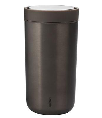 Arts de la table - Tasses et mugs - Mug isotherme To Go Click / Large - 34 cl - Edition limitée - Stelton - Marron métallisé - Acier inoxydable, Matière plastique