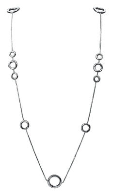 Accessories -  Jewellery - Collection 925 Necklace - By Andrée Putman - Long collar multi rings by Christofle - Silver - Solid silver