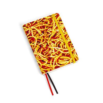 Accessories - Pens & Notebooks - Toiletpaper Notepad - / Spaghetti - Small 15 x 10.5 cm by Seletti - Spaghetti - Ivory paper, Polyurethane