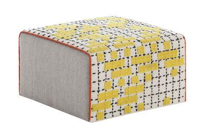 Arredamento - Pouf - Pouf Bandas Small / 60 x 60 x H 35 cm - Gan - Giallo - Lana