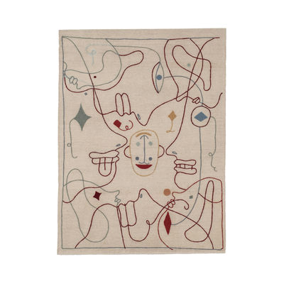 Decoration - Rugs - Silhouette Rug - / By Jaime Hayon - 170 x 240 cm / Wool by Nanimarquina - 170 x 240 cm / Beige & multicoloured - Wool