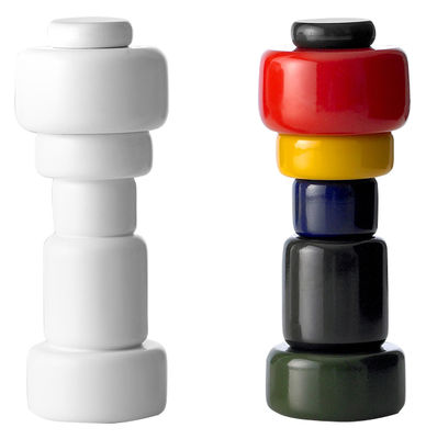Egg Cups - Salt & Pepper Mills - Plus Spice mill by Muuto - Multicoloured - Lacquered beechwood