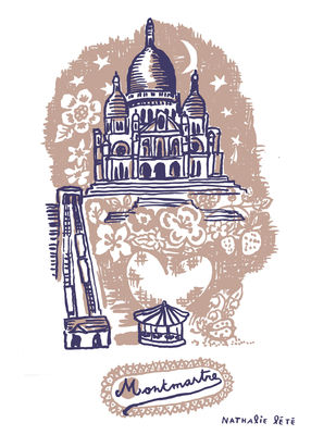 Interni - Per bambini - Sticker Montmartre - 25 x 35 cm di Domestic - Marrone - Vinile