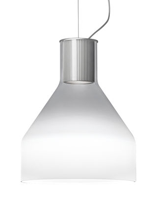Suspension Caiigo / Verre de Murano soufflé bouche - H 29 cm - Foscarini blanc,transparent en verre